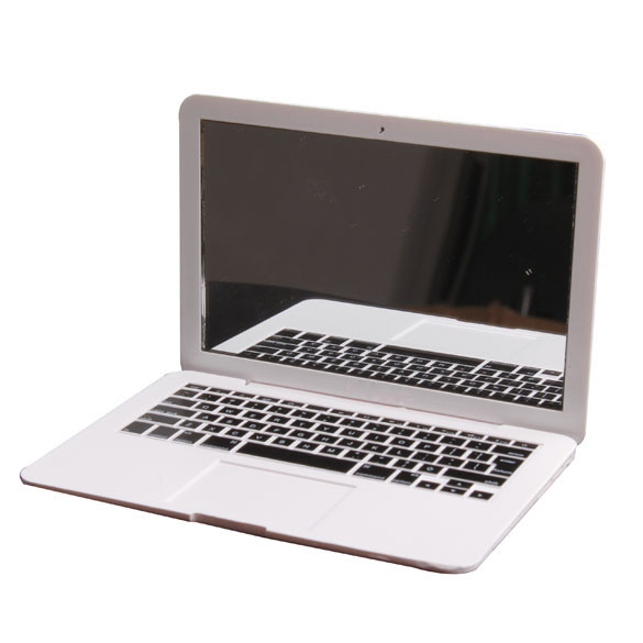 MirrorBook Air White Mini Novel Makeup MirrorBook Air Mirror for Apple MacBook Shaped 88 HB88