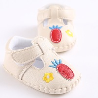 Soft PU Leather Pineapple Pattern Baby Girls Shoes Crib Shoes Spring Autumn Toddler Baby First Walkers
