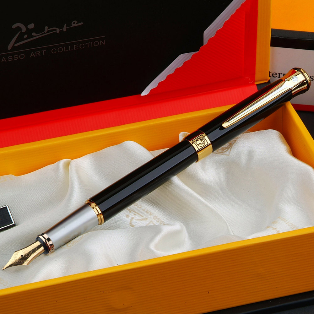 ФОТО Picasso 903 iridium fountain pen pen word business gift boxes to take students with writing office metal pen 0.5 mm