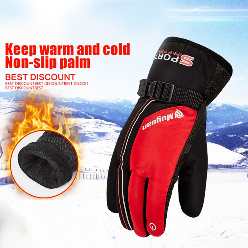 Outdoor Men Women Waterproof Heated Winter Skiing Gloves Windproof Thickening Warm Sport Riding Motorcycle Ski Gloves