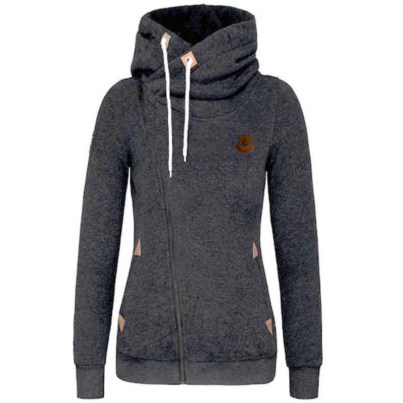 New Fashion Solid Women Hoodies Sweatshirts Spring Autumn Hoodies Women  Zipper Design Women Sweat Shirt Pullover Hoodie-in Hoodies   Sweatshirts  from ... 0fa483229a73