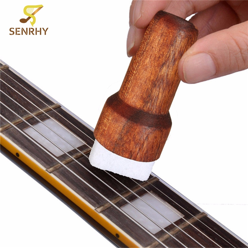 Wood Brown Guitar Bass String Cleaner Instrument Body Cleaning Tool For Stringed Musical Instruments Guiter Parts & Accessories