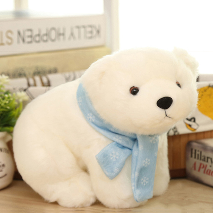 Small Plush Bear Stuffed Animal Polar Bear Toys Baby Doll Knuffels