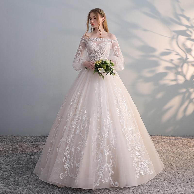 Vestido De Noiva 2018 Princess Wedding Dress Ball Gown Off: Aliexpress.com : Buy 2018 Off Shoulder Ball Gown Lace