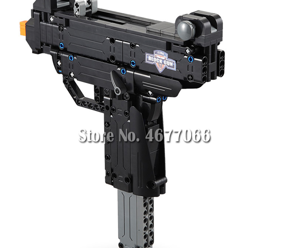 Legoed gun model building blocks p90 toy gun toy brick ak47 toy gun weapon legoed technic bricks lepin gun toys for boy 164