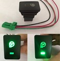 Car Steering wheel heating Switch Green LED With Wire for Toyota