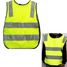 Дети высокая видимость Открытый безопасности светоотражающий жилет Дети обработки защитный жилет одежда Кемпинг Туризм Альпинизм#137