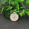 20mm Disco Collar de Plata Personalizada Sello de Cualquier palabra Redonda Colgante de Joyería De Regalo de Navidad de Regalo