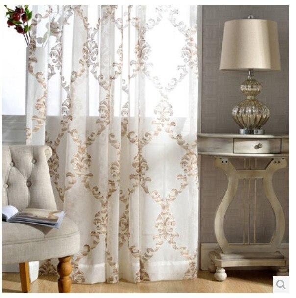 comprar visillos blancos bordados cortinas para sala de estar lino pantallas de la ventana para