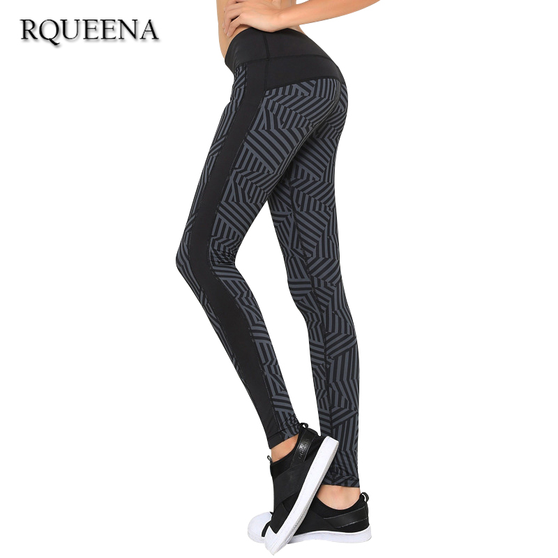 Women's Sports Leggings Black Print Running Women Fitness Legging Slim Jeggings 2015 New Wholesale