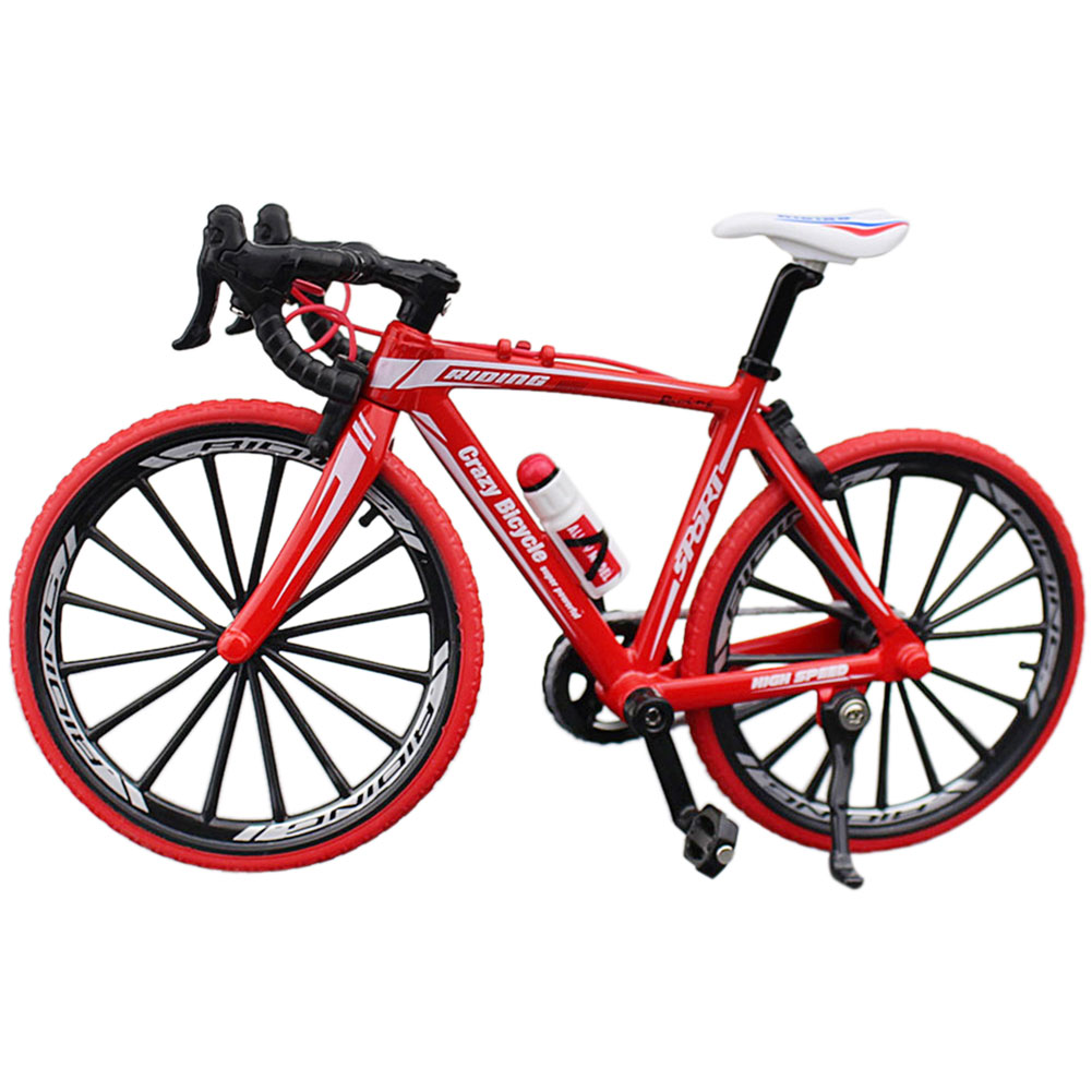 Bicycle Model Home Gift Cross Diecast Toys Racing Cycle Decor Simulation Mini Bend Collection Classic Metal Mountain Bike Kids