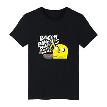 BACON PANCAKES MAKIN'BACON PANCAKES Style White Cotton Tshirt ood looking and Durable Men/Women T-shirt with High quality