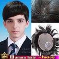 Реальные человеческие Волосы тонкой кожи система Замены Волос Парик Для мужчины Шелковый топ Закрытие Волос Шт мужские ручной Парики человека парик