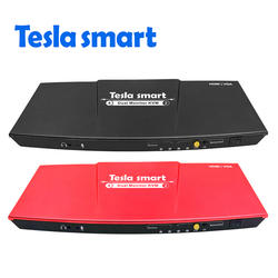 Tesla smart 2 порта выход HDMI + VGA 4x2 HDMI двойной монитор KVM переключатель Поддержка USB 2,0 портов клавиатура и мышь порт и т. Д