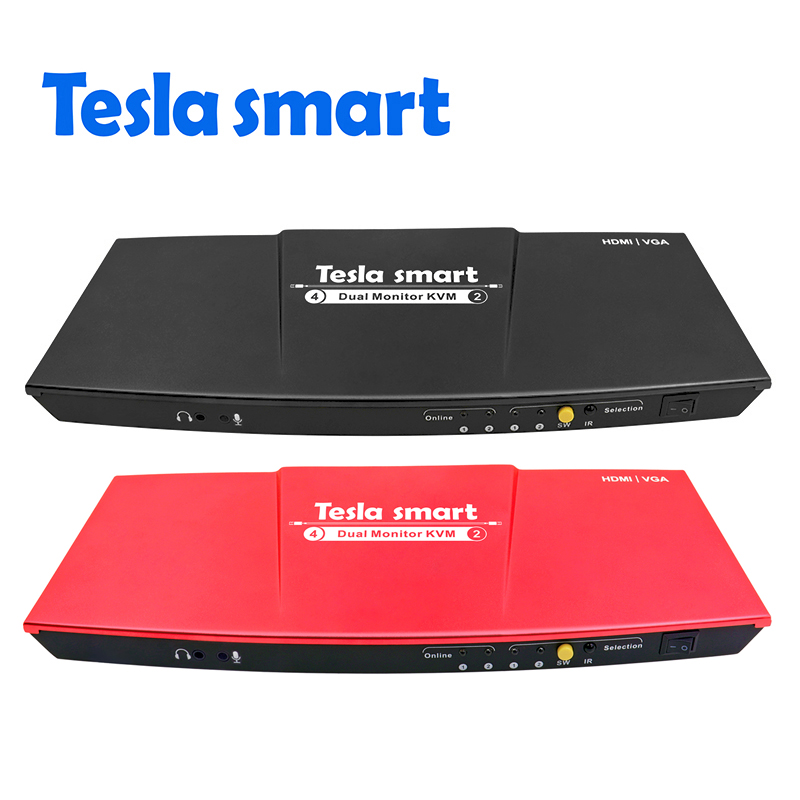 Computer-peripheriegeräte Vga 4x2 Hdmi Dual Monitor Kvm-switch Unterstützung Usb 2.0 Ports Tastatur Und Maus Port Etc Belebende Durchblutung Und Schmerzen Stoppen Gelernt Tesla Smart 2 Port Ausgang Hdmi