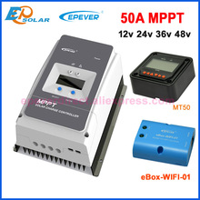 EPever 50A 60A 80A 100MPPT 12V24V36V48V שמש תשלום בקר מקסימום 150V 200V PV קלט נפוץ שלילי הארקה 6415AN 6420AN