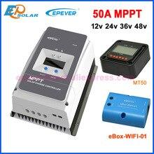 Epever 50A 60A 80A 100 mppt 12V24V36V48V ソーラー充電コントローラ最大 150 v 200 v pv 入力共通負接地 6415AN 6420AN