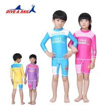 87c3c1e09 Ternos de mergulho das crianças dividir calções de manga longa calças nadar  surf crianças stinger terno upf50 + uv impedido bask.