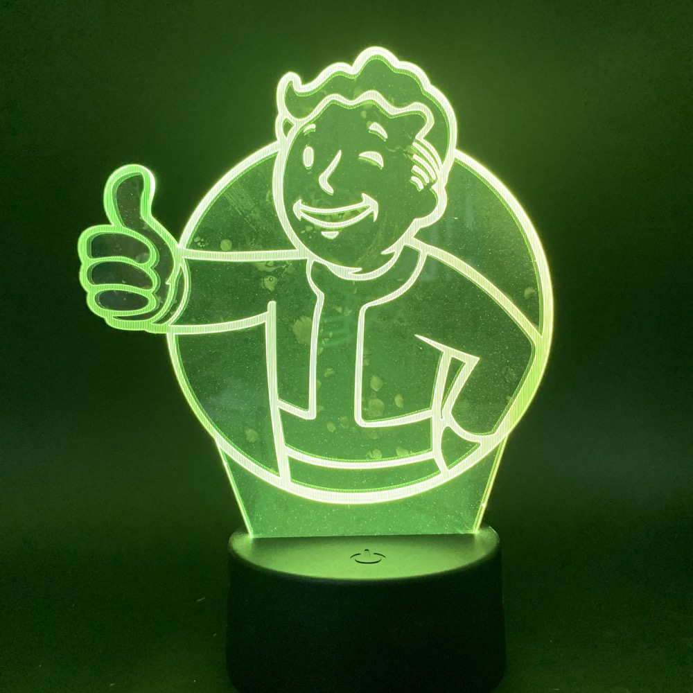 Game Fallout Shelter 3d Led Night Light Touch Sensor Color Changing Nightlight Gift For Kids Child Bedroom Decorative Lamp 3d
