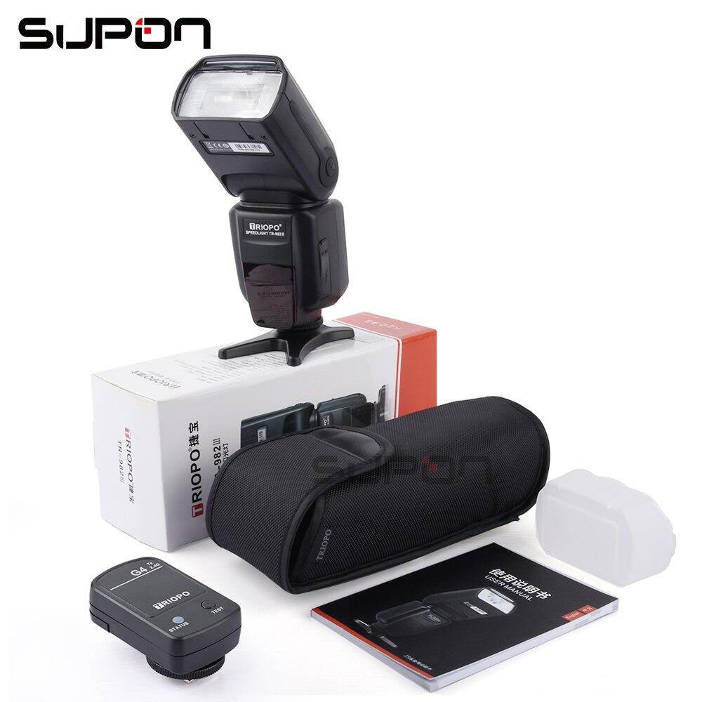 TRIOPO TR-982C III Sur-Appareil Photo Flash Speedlite LCD e-TTL 2.4G Sans Fil + TX pour Canon 7D mark II 5 DIII 6D 70D 60D 100D 700D 1000D
