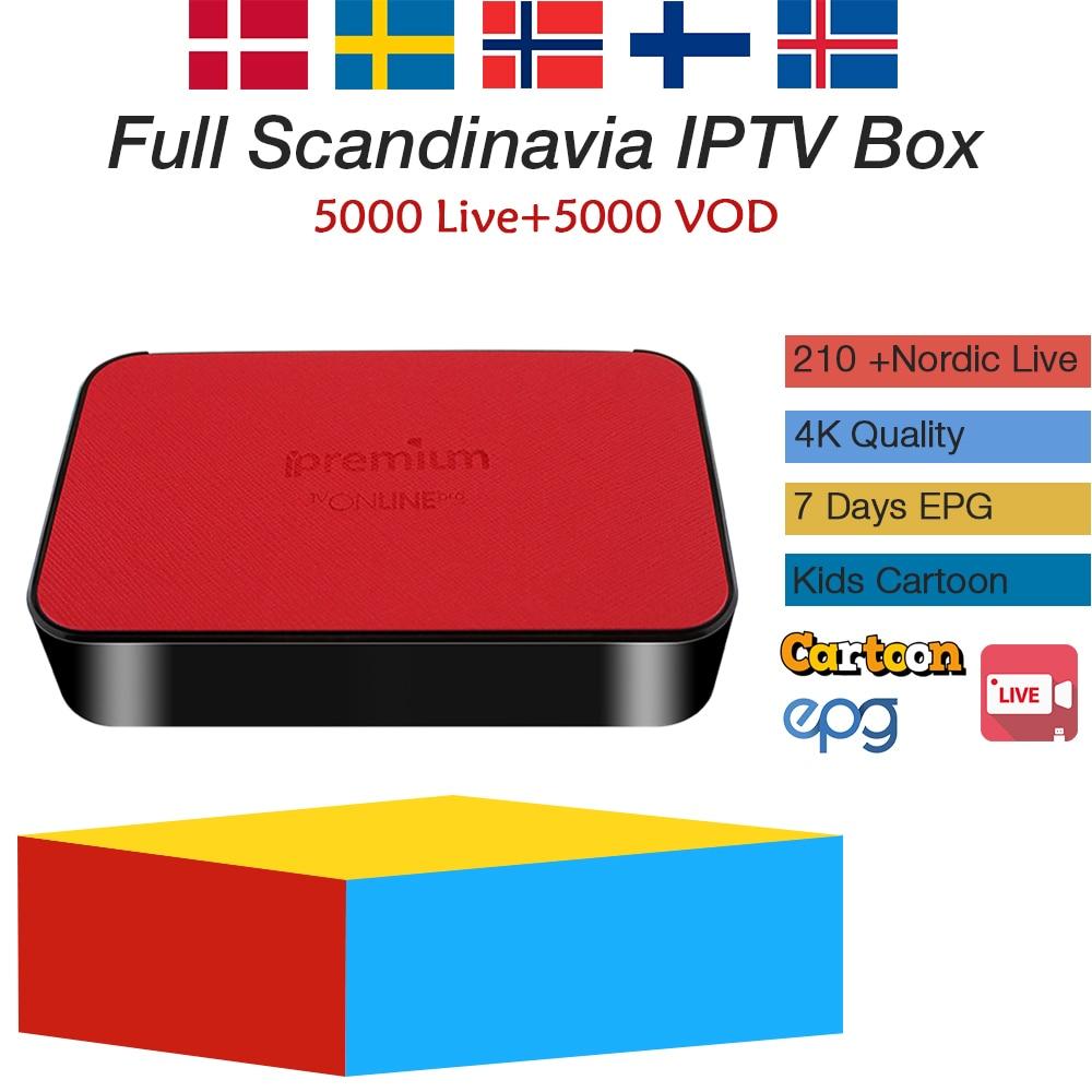 Ipremium TVonline iprv box with 1 year Sweden France Arabic UK Germany Israel USA Canada iptv subscription free shipping