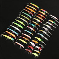 Bobing 43pcs/lot Fly Fishing Lure Set Minnow Hard Bait Artificial Wobbler Carp Spinning Crankbait River Fishing Tackle pesca