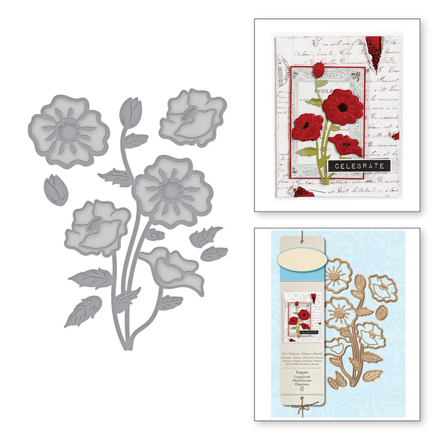 Ufurty Маки цветок металла резки штампы для DIY штампы для скрапбукинга ремесло тиснение штампы резки трафарет шаблон