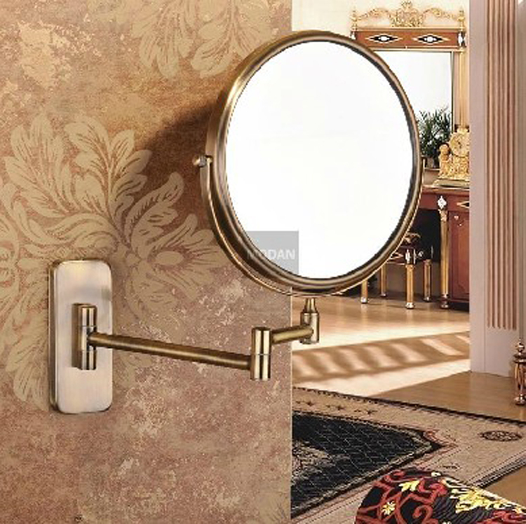 Aliexpress Buy Antique Luxury Double Side 8 Bath Mirror Shave Makeup Extend Arm 3x Magnifying Espelho Do Banheiro Bathroom Sanitary Accessories From