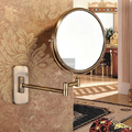 Antique Luxury Double Side 8 Bath Mirror Shave Makeup Extend Arm 3x Magnifying Espelho Do Banheiro Bathroom Sanitary Accessories