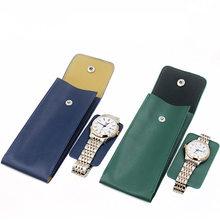 Высокое качество из искусственной кожи часы защиты сумка стиль влюбленных часы сумки для хранения зеленый кожаный бренд механические часы дорожная сумка