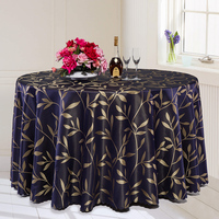 3 Color Multi Purpose Luxurious Round Table Cover Rectangle Table Cloth Plant Pattern Hotel Wedding Tablecloth