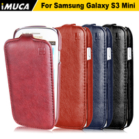 PU Leather Case For SAMSUNG Galaxy S3 Mini I8190 Vertical Flip Cover Mobile Phone Case Bags
