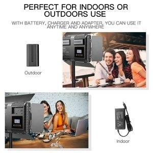 Image 2 - Travor 2set 600pcs studio camera photo light 3200K/5500K CRI93  led video light kit with 2m tripod and NP F550 batteries youtube