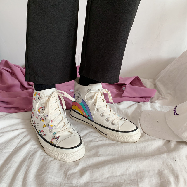 High Top Unicorn Sneakers For Girls
