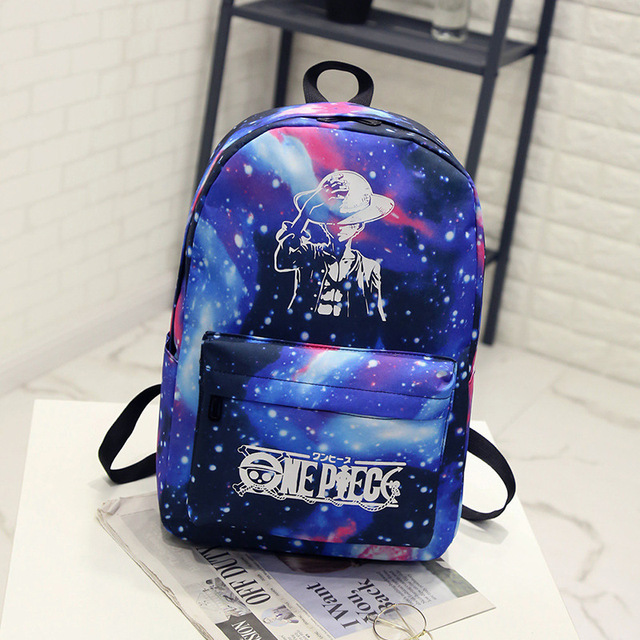 BONAMIE Night Light Cool Backpack Canvas Backpacks School Bags For Teenager  Girls Boys Book Bag One Piece Starry Sky Backpack 7ea1f93dae5ed