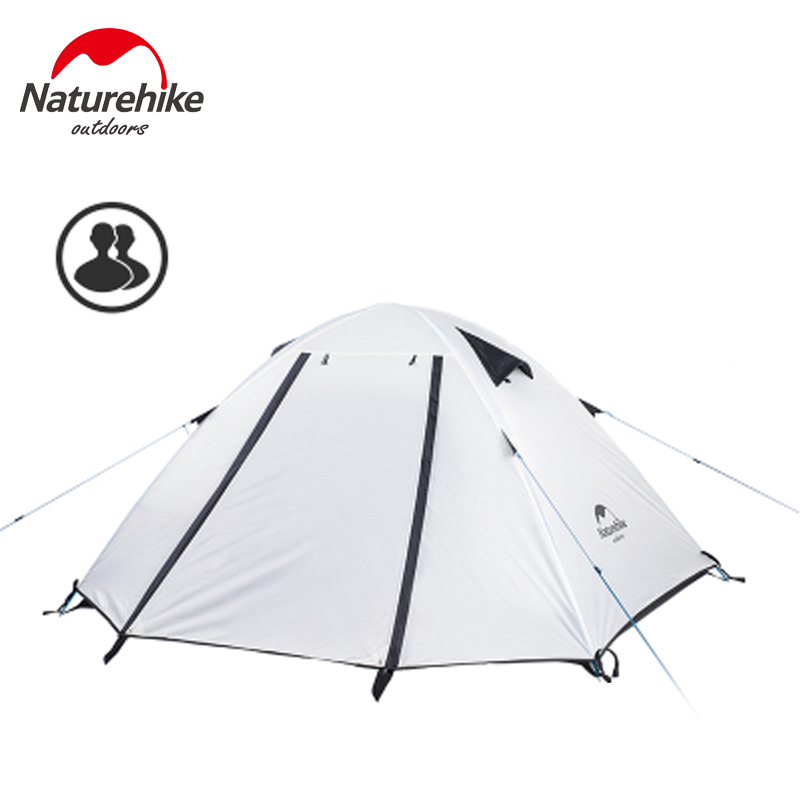 Naturehike Ultralight Travel Outdoor Camping Tent Aluminum Rod 2 Person Double Layers Waterproof Camping Tent With Carrying Bag yingtouman outdoor 2 person waterproof double layer tent fiberglass rod portable ultralight camping hikingtents
