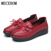 2017New Autumn Wearable Women Casual Shoes Handmade Women Flat Shoes Loafers Moccasin Comfortable Soft Creeper Women