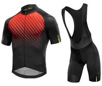 MAVIC 2017 Summer Cycling Jersey Short Sleeve Set Breathable Bib Shorts Bicycle Clothes Quick Dry Bike