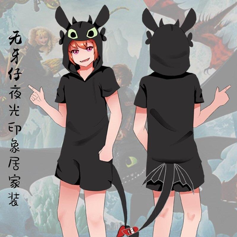 Japon Anime comment former votre Dragon sans dents Kigurumi Cosplay Costume pyjama doux hommes femmes une pièce pyjamas vêtements de maison