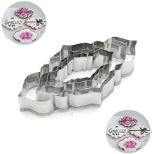 4Pcs/Pack 3D Blessing Frame Shape Cake Cookie Cutters Chocolate Biscuit Vegetable Fruit Metal Mold Kitchen DIY Tools For Baking