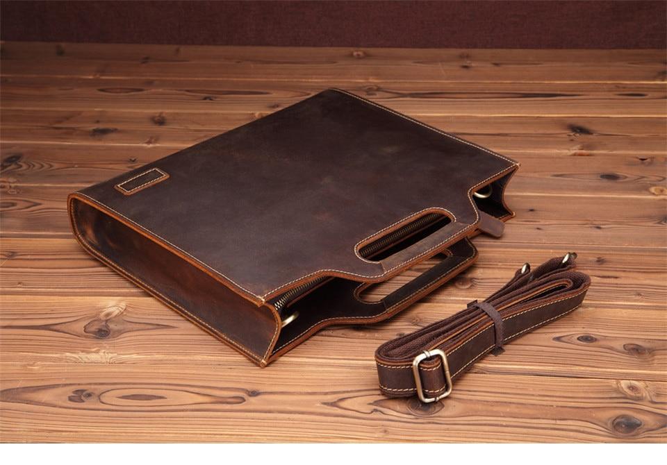 HTB184 Xv4uTBuNkHFNRq6A9qpXaT New Genuine Leather Men's Handbags Retro Crazy Horse Leather Men Tote Bag Shoulder Messenger Business Men Briefcase Laptop Bags