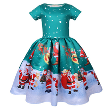 Childrens Princess Dress Christmas Elf Costume 2018 Carnival Red