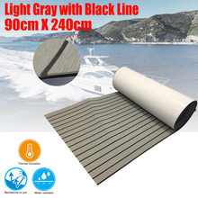4 Size EVA Teak Decking Sheet For Boat Yacht Marine Flooring Carpet With Adhesive Gule Light Grey In Black Accessories