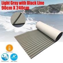 EVA Teak Decking Sheet For Boat Yacht Marine Flooring Carpet With Adhesive Gule 90cmX240cm Light Grey In Black Boat Accessories стоимость