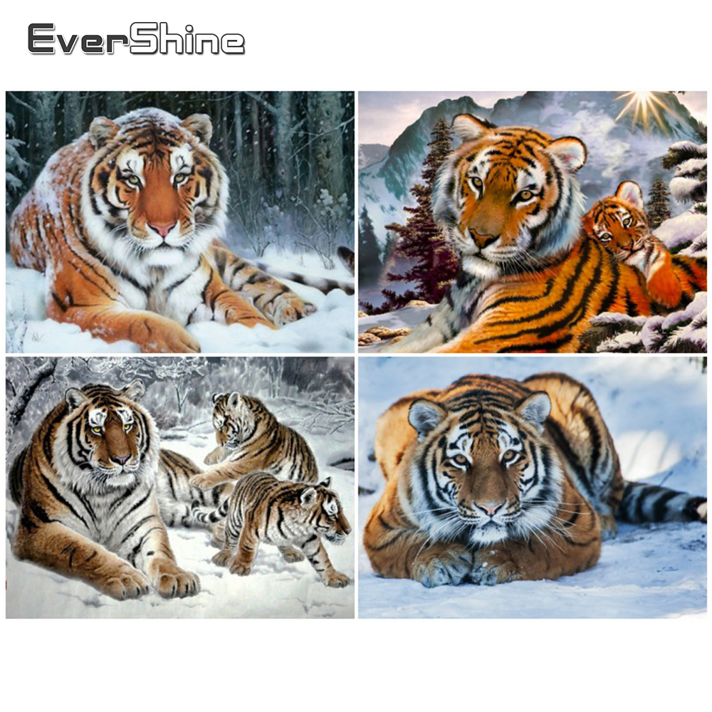 Arts,crafts & Sewing Home & Garden Evershine Diamond Embroidery Animals Diamond Painting Cross Stitch Tiger Handmade Diamond Mosaic Picture Rhinestone Home Decor