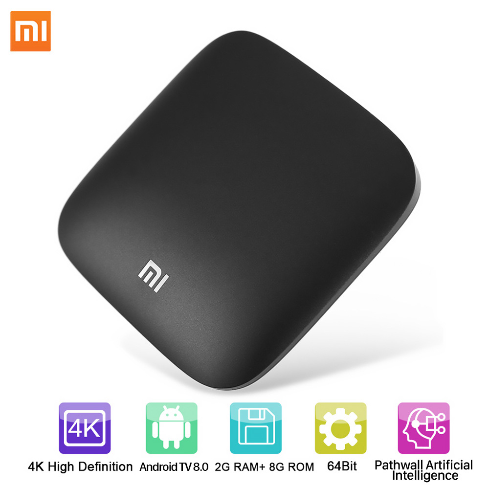 Image 3 - Xiaomi MI BOX 3 Android 8.0 Smart WIFI Bluetooth 4K HDR H.265 Set top Box Youtube Netflix DTS IPTV Media Player Xiaomi MI Box 3-in Set-top Boxes from Consumer Electronics