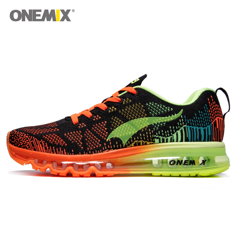 ФОТО Onemix Air Running Shoes For Men and Women Mesh Breathable Sport Sneaker Lightweight Lover Athletic Trainers Walking Runner