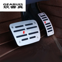 Car Styling Metal Fuel Brake Foot Carpets S Line Pedal Stickers Covers Trim Decorative For Audi