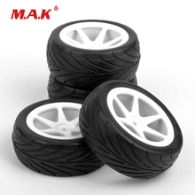 4 Pcs/Set 12mm Hex 1/10 Tires/Tyre and Wheel Rims fit 1:10 Scale RC Buggy Off Road Car Model Toys Accessories Gifts