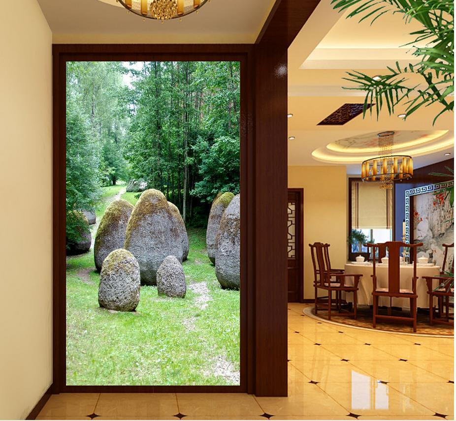 landscape perspective forest decoration stone
